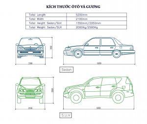 Size SUV&Sedan
