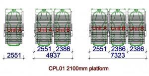CPL01-Sàn nâng rộng 2100mm